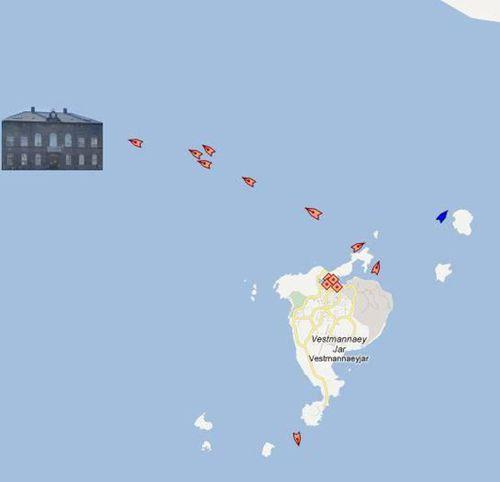eldflaugaárás á Alþingi