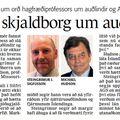 Fbl 090406 Skjaldborg um auðlindir Hudson Steingrímur