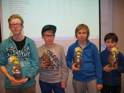 Símon, Birgir, Heimir og Mikael