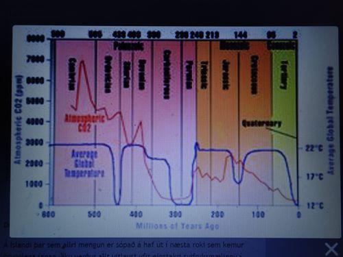 CO2 í 600 milljón ár