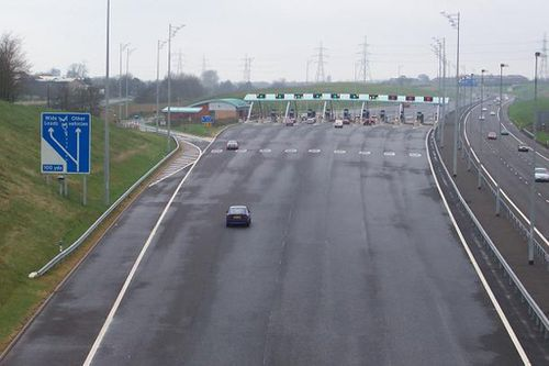 m6 toll plaza great wyrley