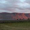 Fallegt sólarlag við Dýrafjörð