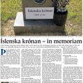 Fbl 081228 Benedikt Jóh Íslenska krónan