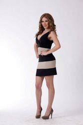 Black/beige cokteil dress