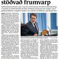 Fbl 090401 Hótanir stöðva frumvarp