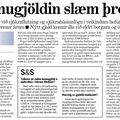 Moggi 090107 Komugjöld slæm þróun