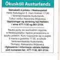 Auglýsing frá Ökuskóla Austurlands