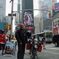 Á mótorhjólinu mínu á Times Square !!