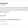 granat mot polis í uppsölum