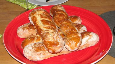 heimagerðar baguettur