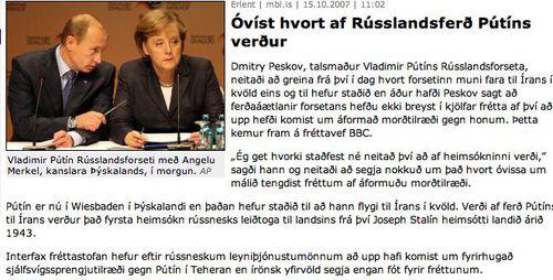 Rússlandsferð Pútíns...