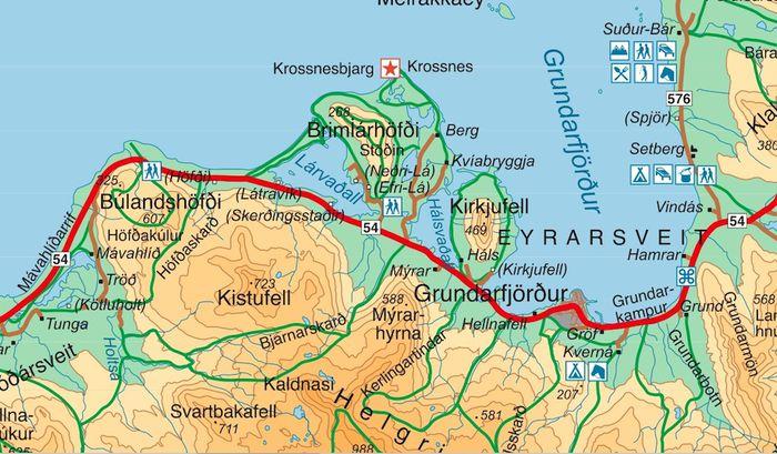 Búlandshöfði kort