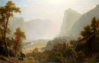 Hetch_Hetchy_Valley_From_Road,_Albert_Bierstadt