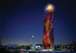 Socar-Tower-Baku-night