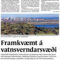 Fbl 091106 Framkvæmdin gæti ógnað vatnsbólum