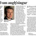 Moggi 081211 BjörnB Óráð um auglýsingar