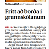 Fríar skólamáltíðir  á Hellu